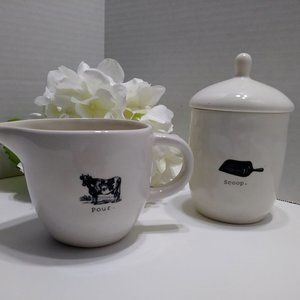 Rae Dunn Icon Sugar & Cream Set - Scoop and Pour